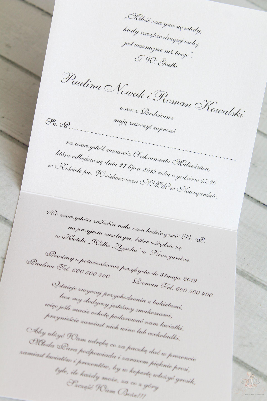 Zaproszenie ślubne Brilliant